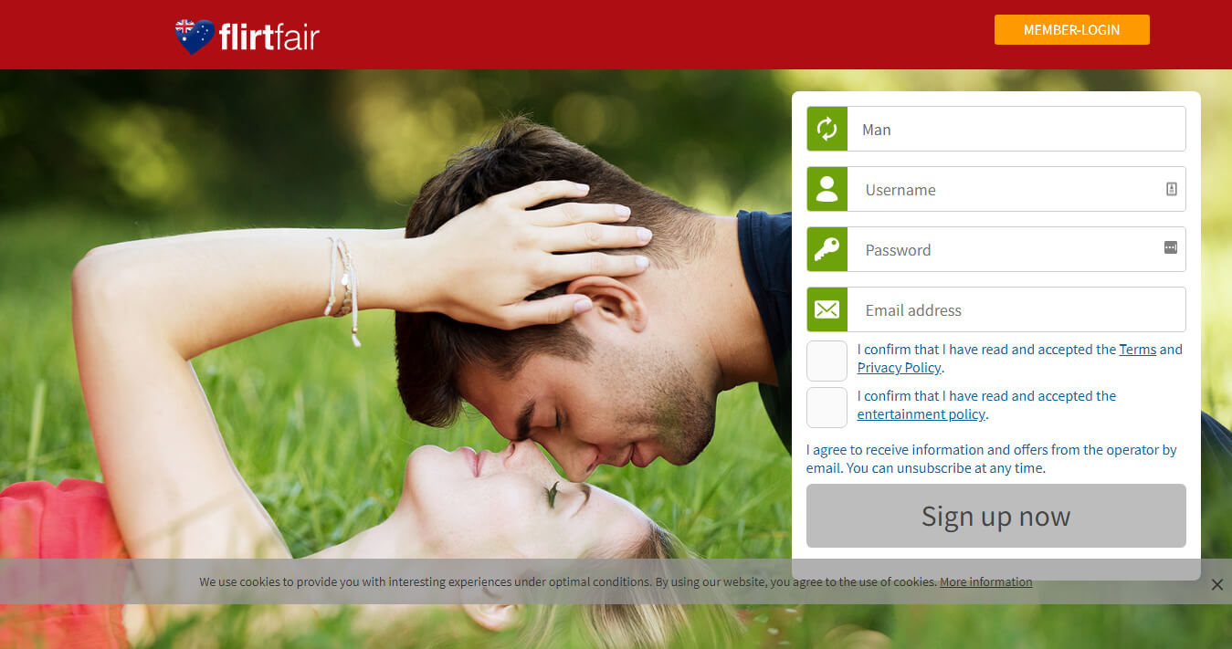 Flirtfair Sign-up