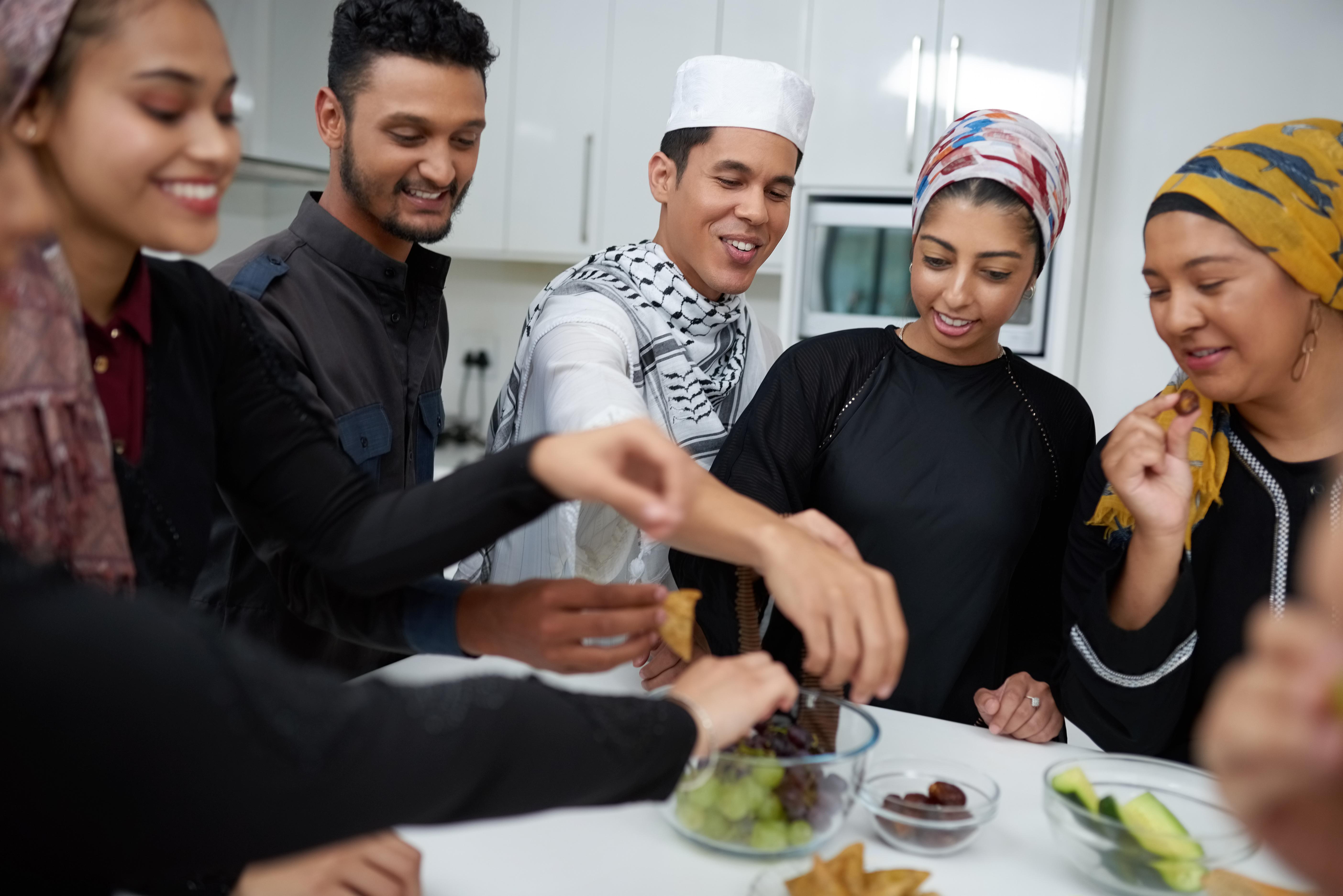 Muslim Family Dinner