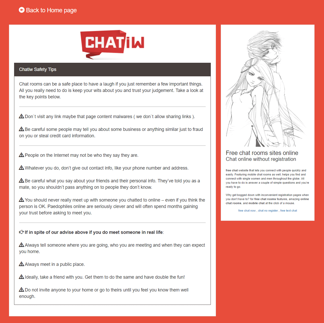 Chatiw Safety Tips