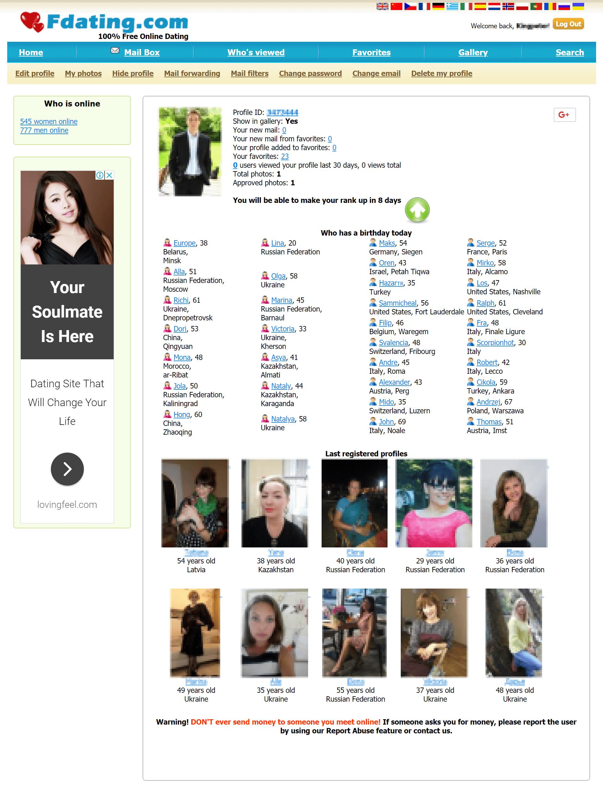 FDating Homepage