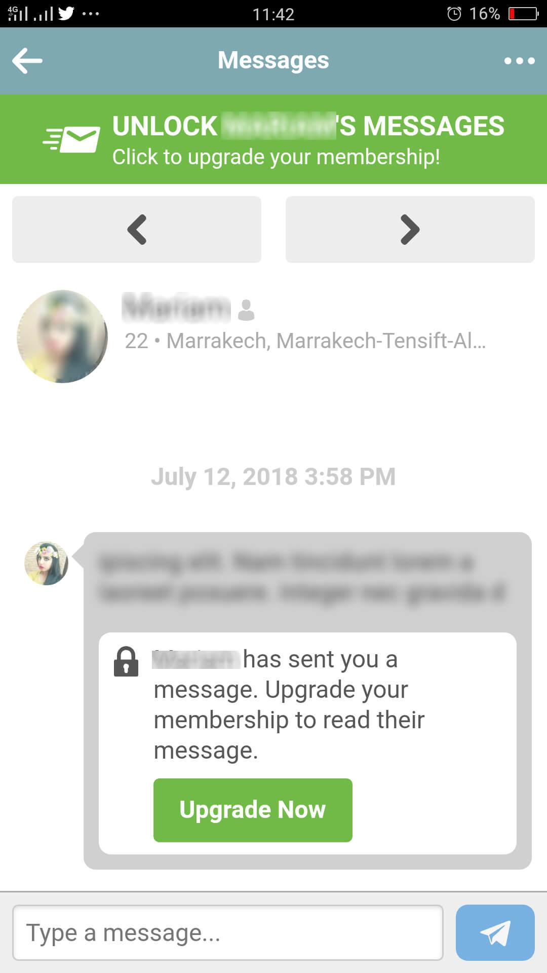 Muslima App Message