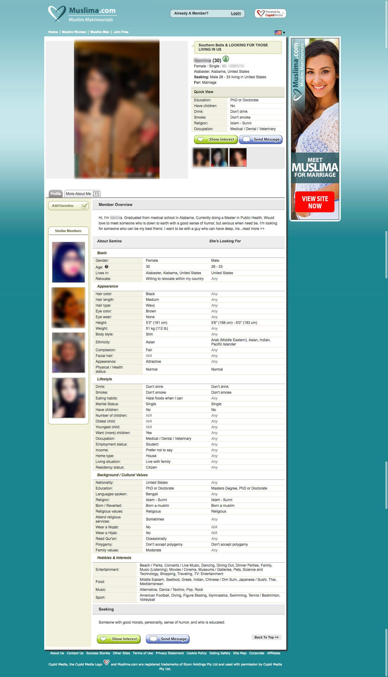 Muslima Female Member Profile