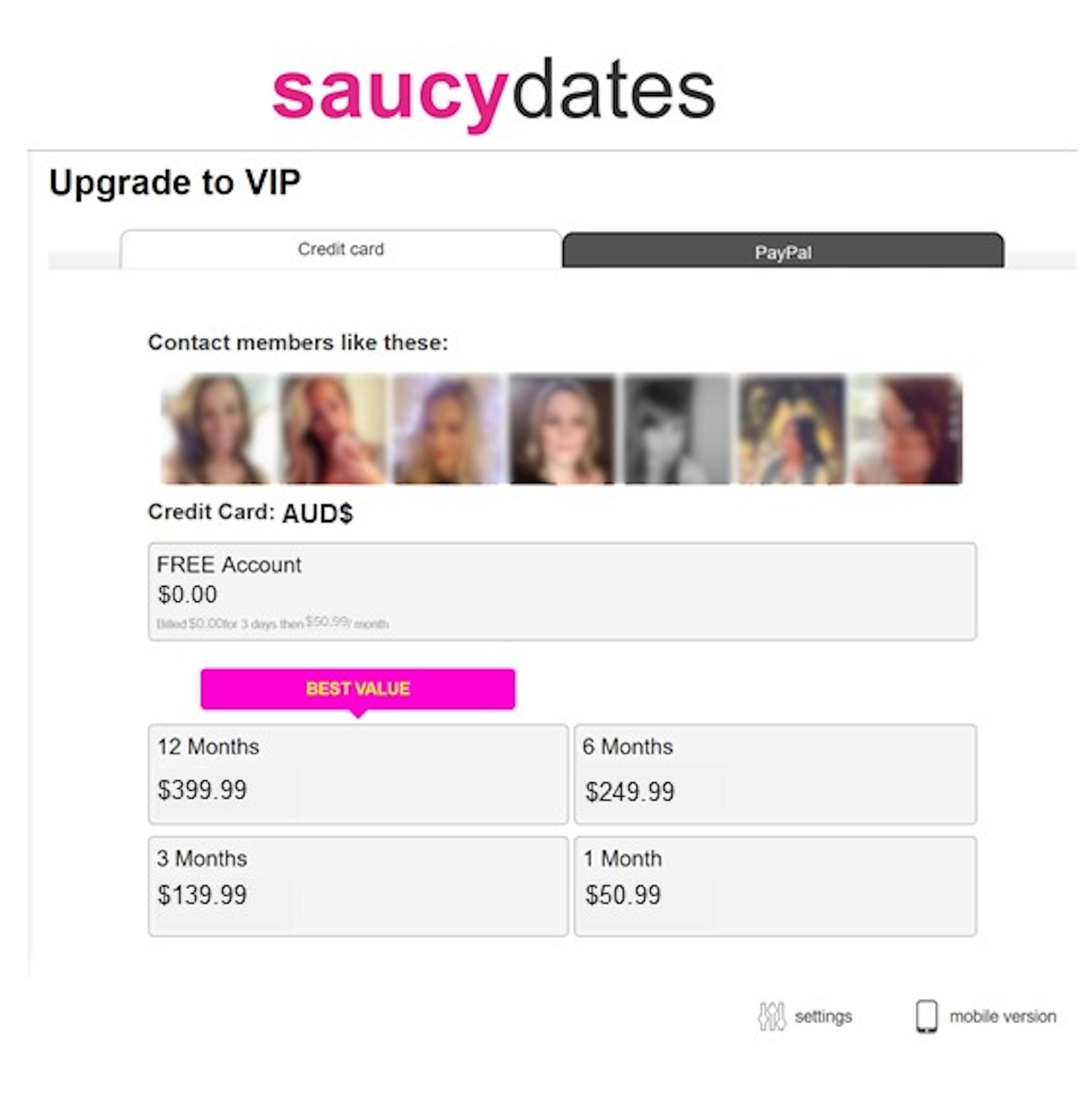 SaucyDates Cost AU