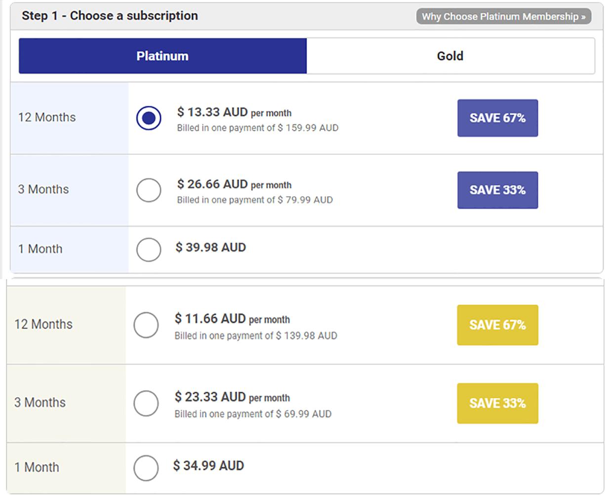 SingaporeLoveLinks Price Table