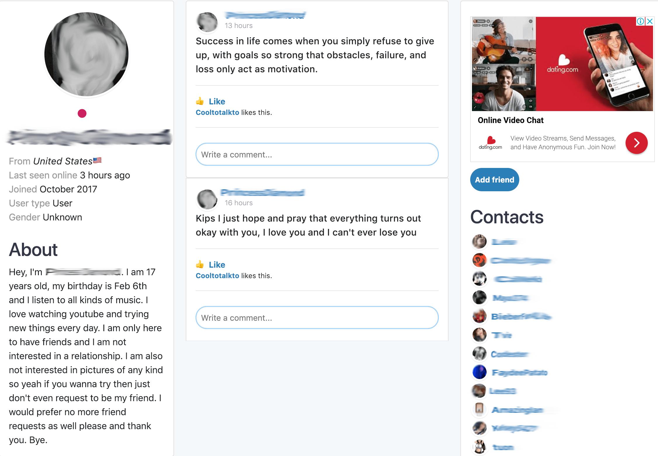 StrangerMeetup Profile