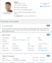 Bharat Matrimony Male Profile