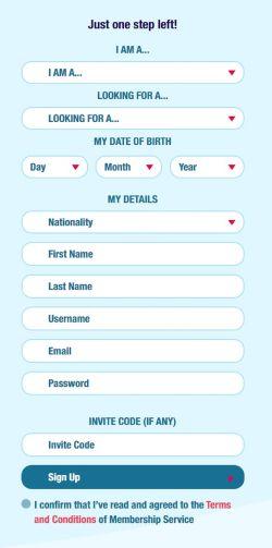 Date British Guys Registration