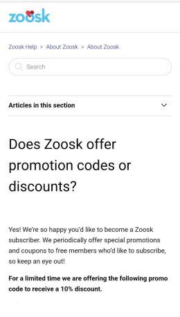 Zoosk Discount Code