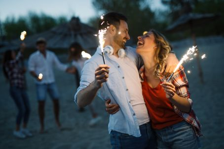 NYE AU NZ Couple with Sparklers
