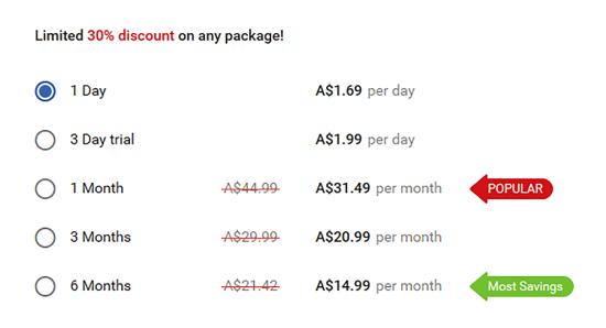 WantMatures AU Price