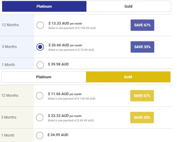 Colombian Cupid Pricing