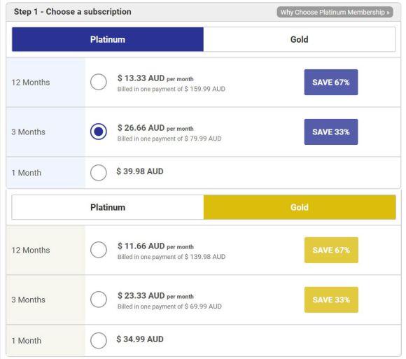 PinkCupid AU Prices