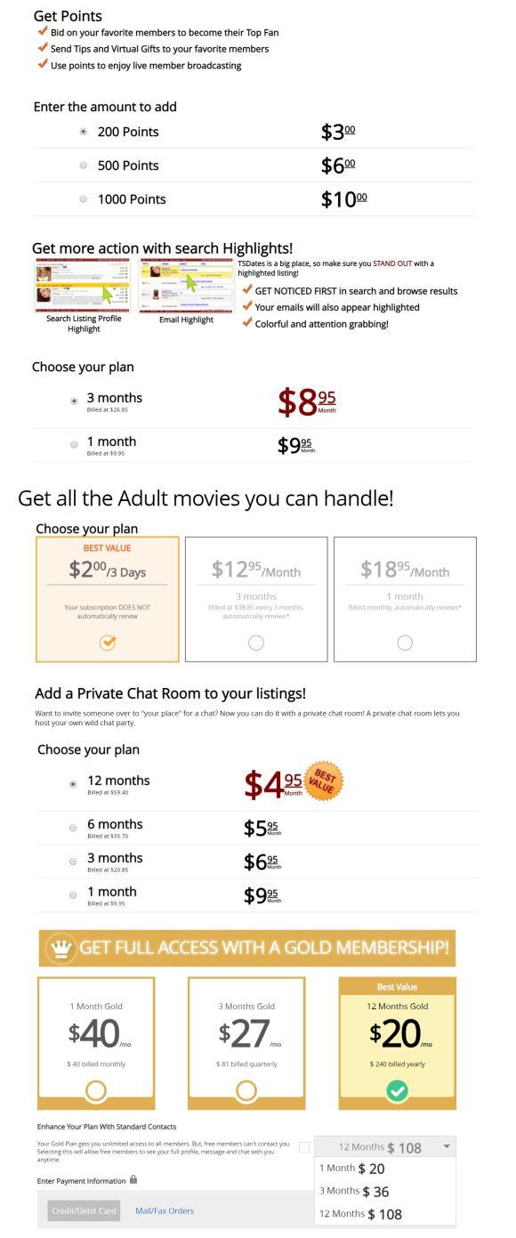 TSDates Price