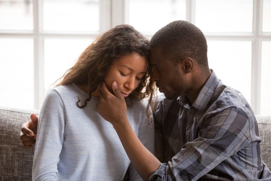 Interracial Dating Couple Comfort