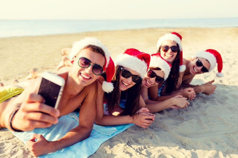 Christmas at the beach