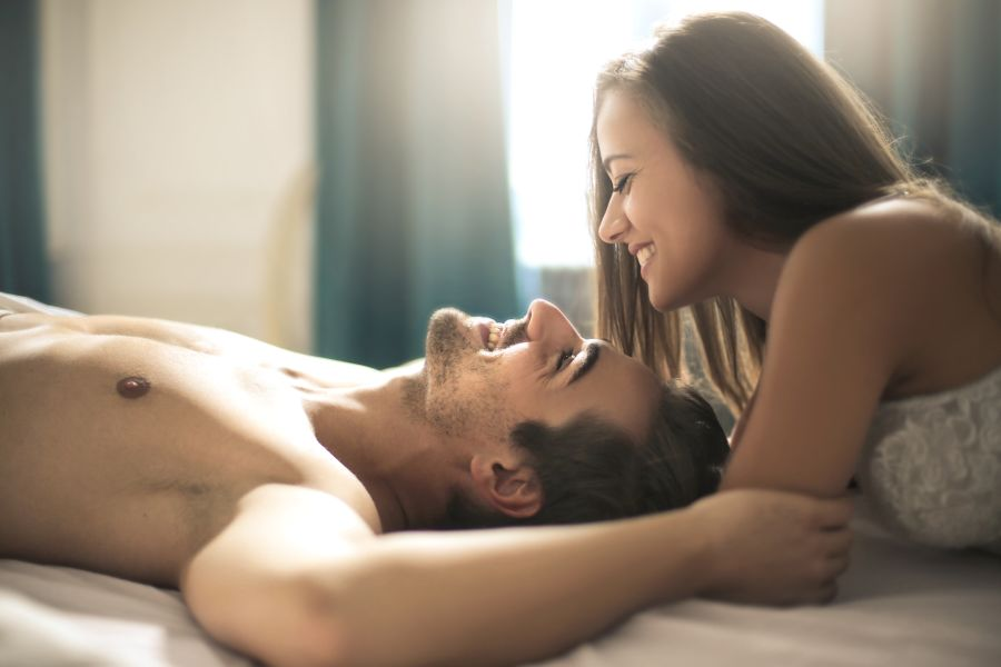 Casual Dating Cute Couple in Bed