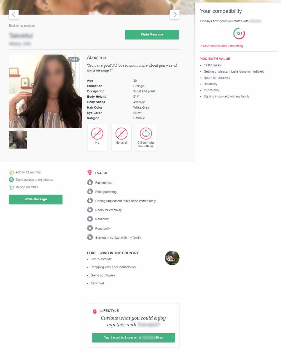 Academic Singles Profile