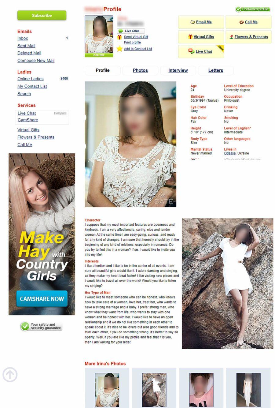 AnastasiaDate Female Profile
