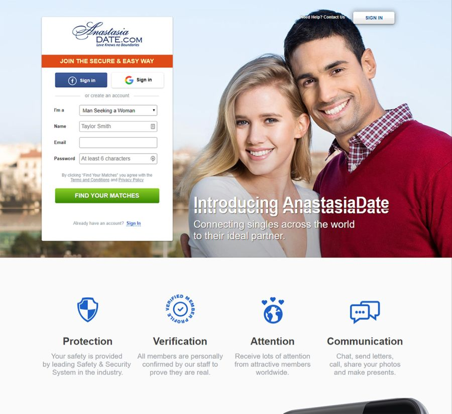 AnastasiaDate Sign-up