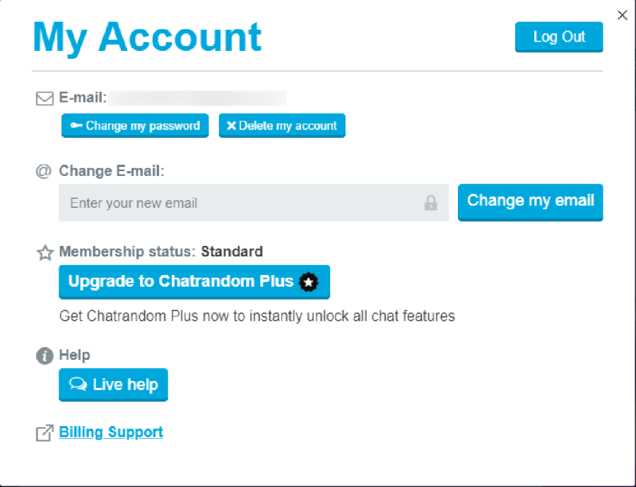 chatrandom my account