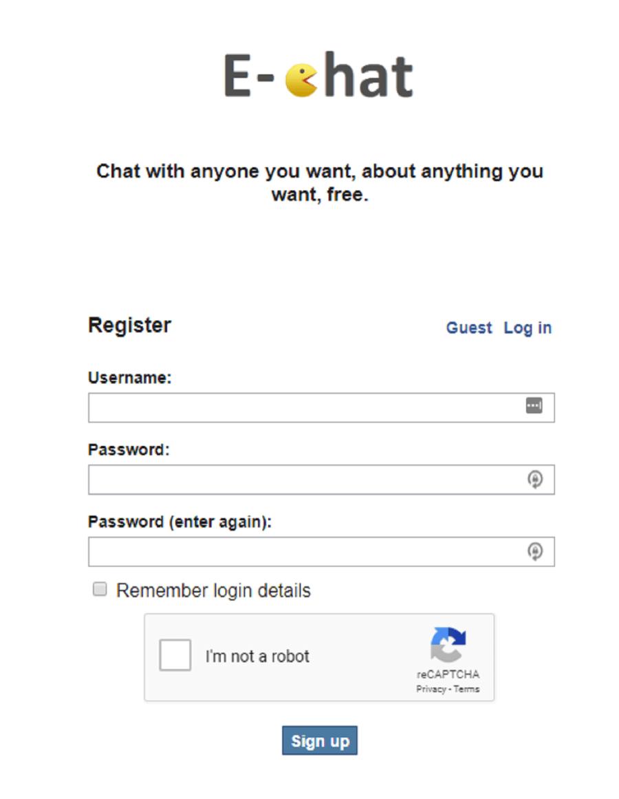 E-Chat Registration
