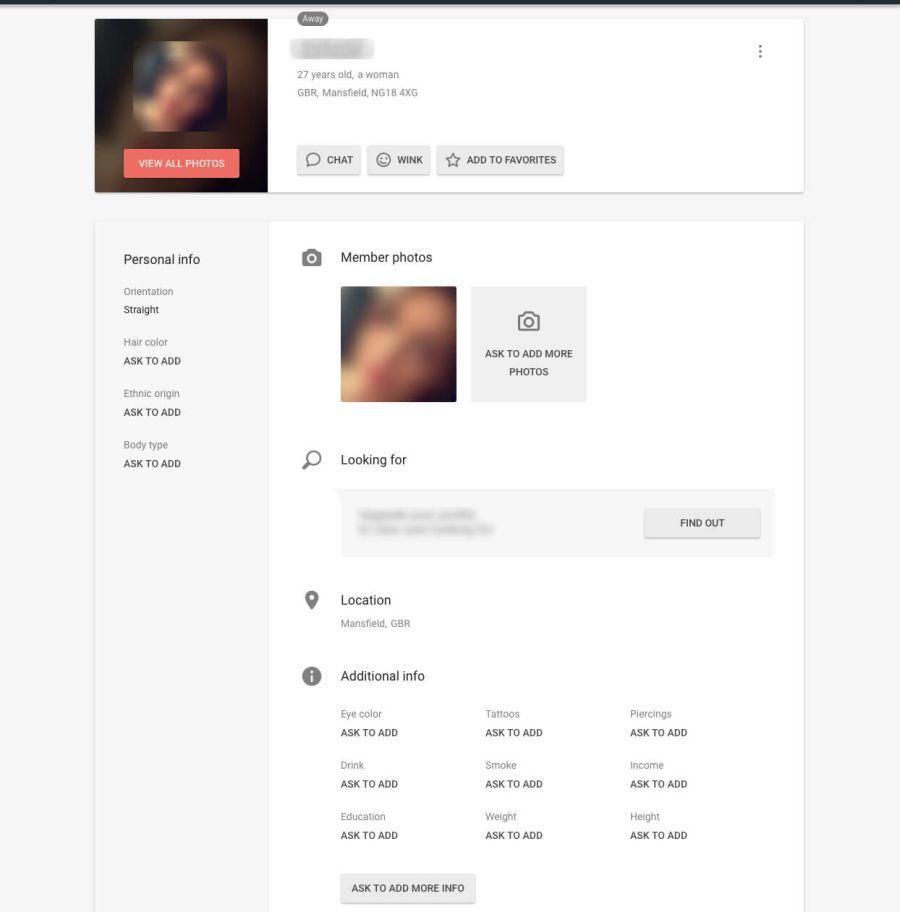 Flirt Female Profile