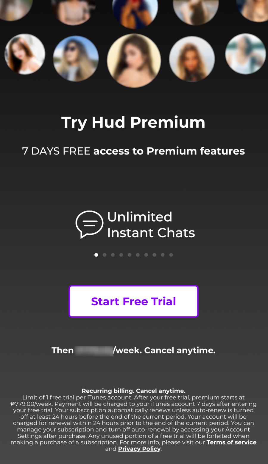 HudApp Premium Trial