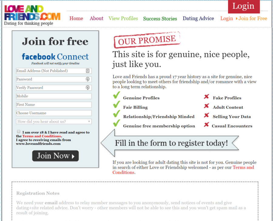 Love and Friends Registration