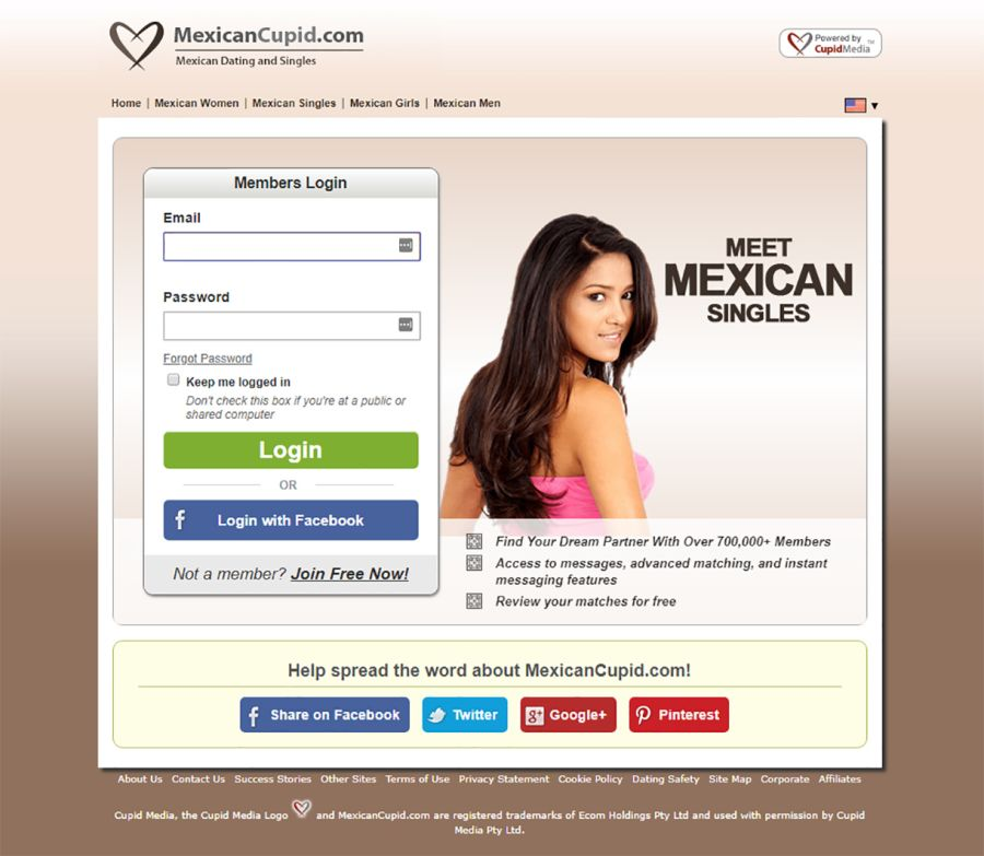 Mexican Cupid Sign-up