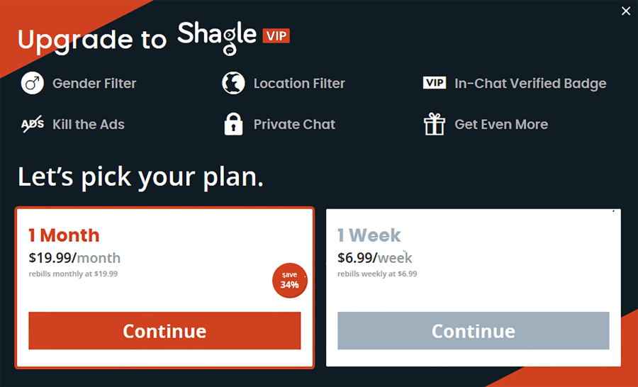Shagle AU Price